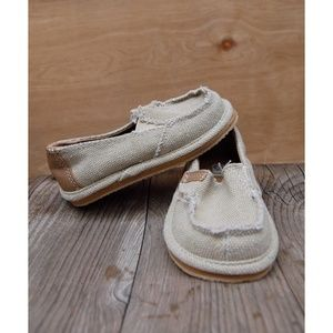 e09e2d2eec4e JCP tan cream beach lounge loafer Velcro toddler